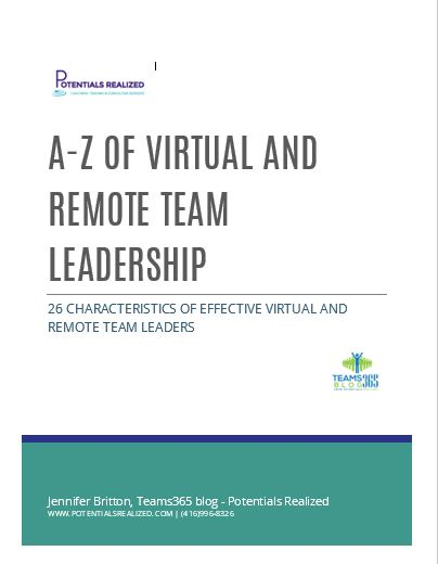 Teams365 Virtual and Remote Team Leader a-z E-book