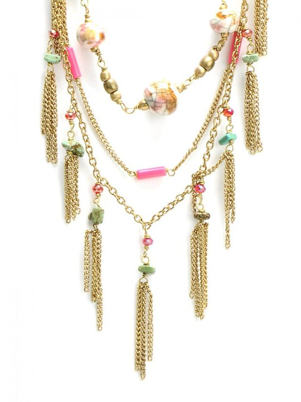 Ivory-Tag-Women-Pink-and-Golden-Necklace_cd2f673d642805d25aeb83dffeedfef0_images_1080_1440_mini 2013 Top Jewelry Trends