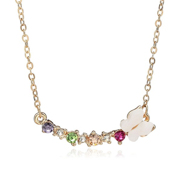 m-Butterfly-Multi-colored-Crystal-Bar-Pendant-Necklace-Gold-01__42238_zoom 2013 Top Jewelry Trends