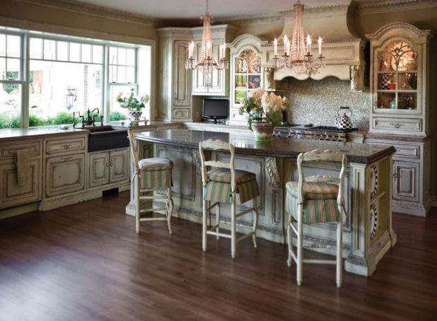 Luxury-kitchen-with-elegant-cabinet-and-worktop Stunning And Contemporary Victorian Decorating Ideas