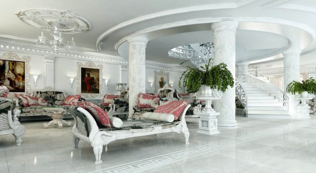 white-living-room-idea-interior-victorian-marble Stunning And Contemporary Victorian Decorating Ideas