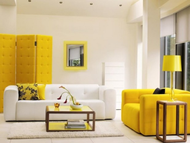 awesome-yellow-living-room-furniture Discover the Furniture Trends for 2014