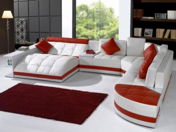 living-room-colors-trend-red-cushion-white-sofa Discover the Furniture Trends for 2014