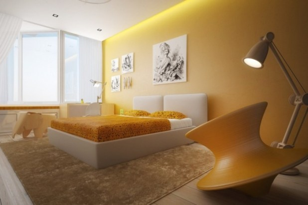 yellow-white-bedroom-color-scheme Discover the Furniture Trends for 2014