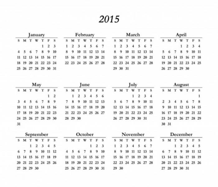 PRINTABLE 2015 CALENDAR - Yangah Solen