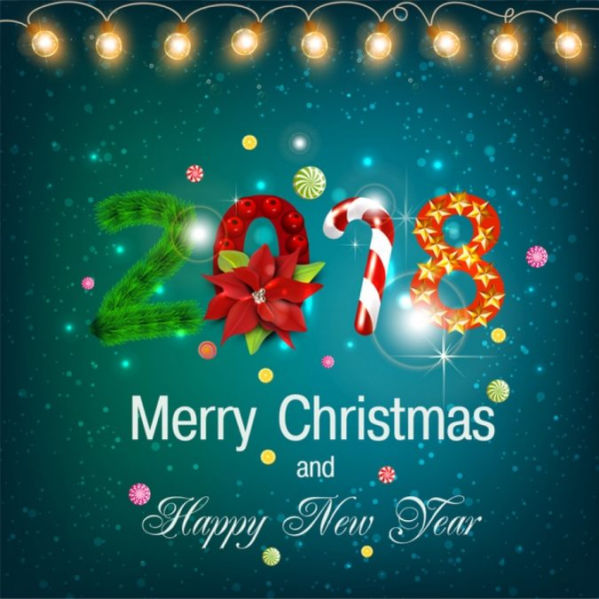 50+ Best Merry Christmas  Happy New Year Greeting Cards 2018-2019