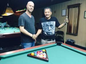 Efren Reyes and Daniel Busch