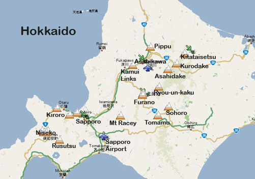 Sapporo to Niseko Bus How to Get to Niseko, Travel - best of world map with japan