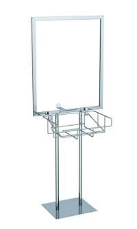 Double Pole Flat Base Sign Holders | Power-Graphics.com