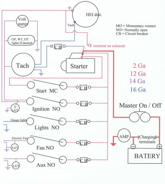 HEI race car wiring diagram