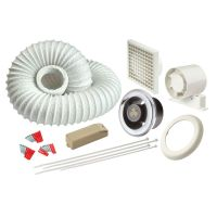 Manrose LEDSLKTC LED Showerlite Bathroom Extractor Fan and