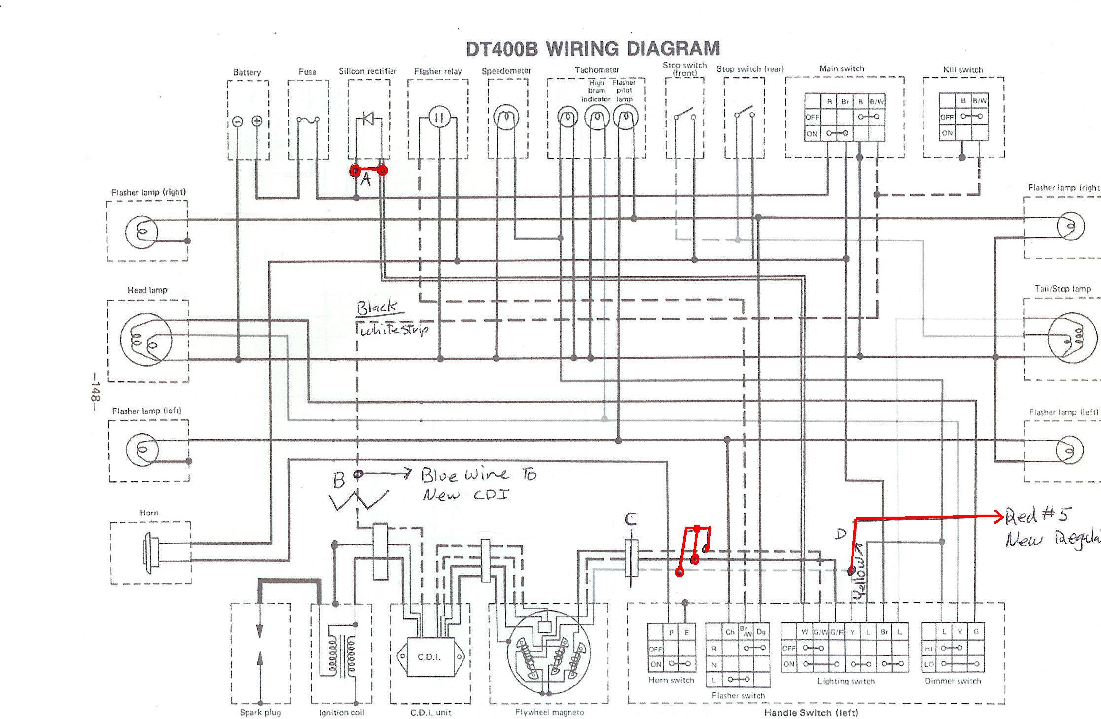 √ powerdynamo for yamaha dt1 2 3, rt1 2 3, dt250 360 400 yamaha virago wiring-diagram yamaha dt 250 wiring diagram #6