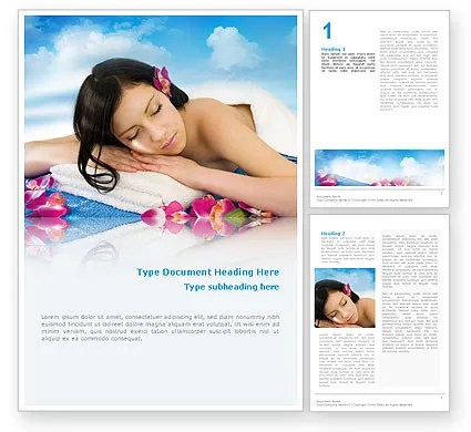 Spa Brochure Templates Spa Pictures