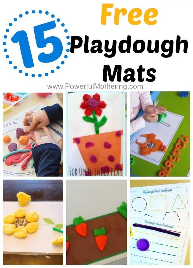 15 Gorgeous Free Playdough Mats