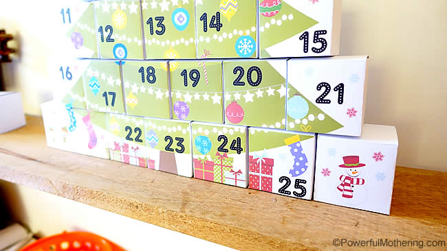 Christmas Calendar Ideas To Make Christmas Countdown Ideas For Little Bookworms My Little Diy Boxes Advent Calendar With Free Printable