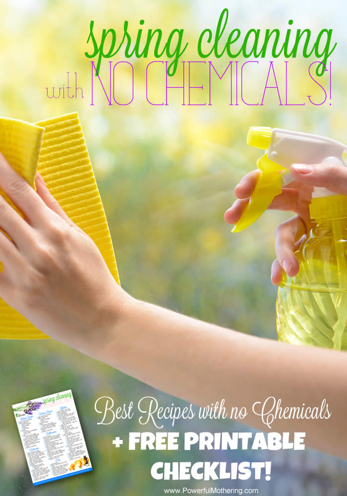 Spring Cleaning with NO Chemicals! Recipes plus Free Printable - printable checklist