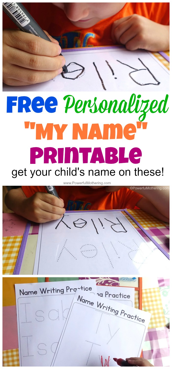 practice tracing name