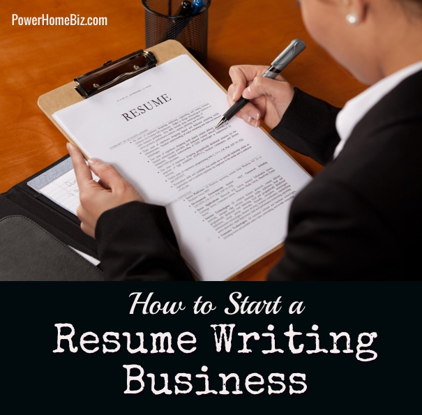 Business Idea Starting a Resume Writing Service - resume writing