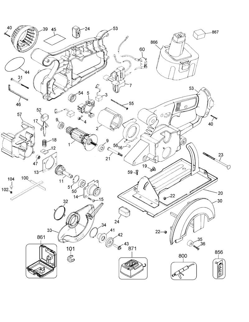 de walt tool parts diagrams