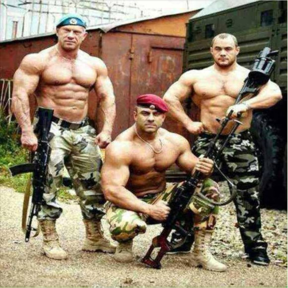 The Russian Orthodox Army. Maybe a bit too much masculinity?