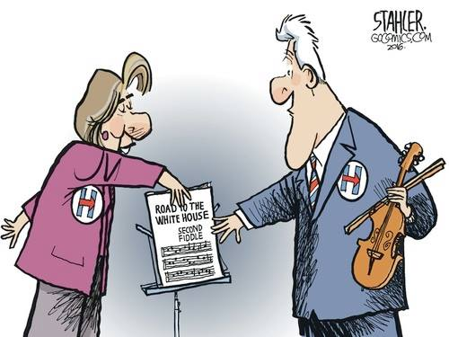 Bill Clinton 2nd fiddle
