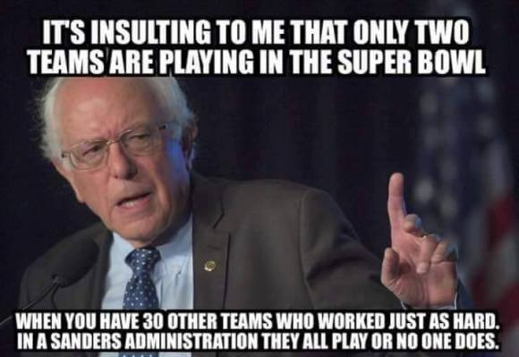 Bernie Super Bowl