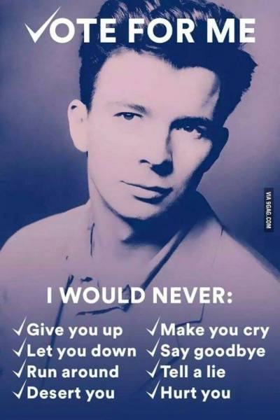 Rick Astley for Prez