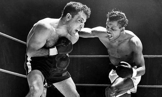 Ray Robinson and Jake LaMotta