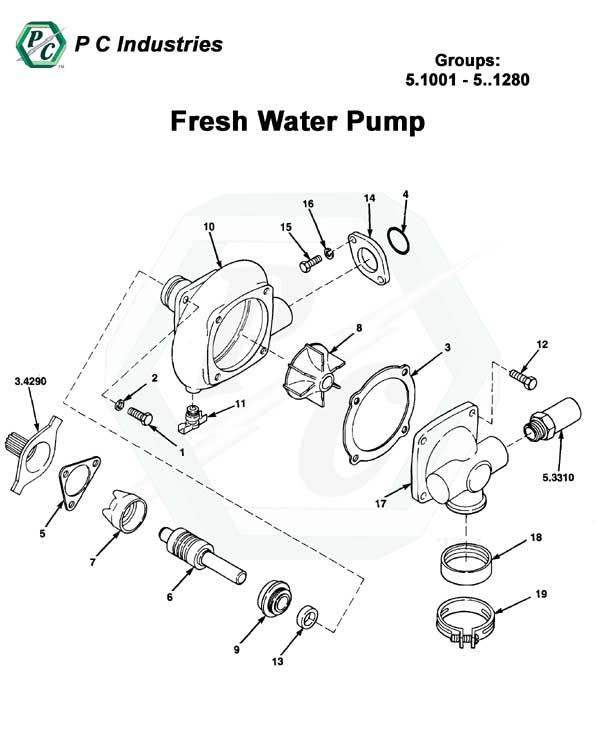 diesel engine water pump diagram