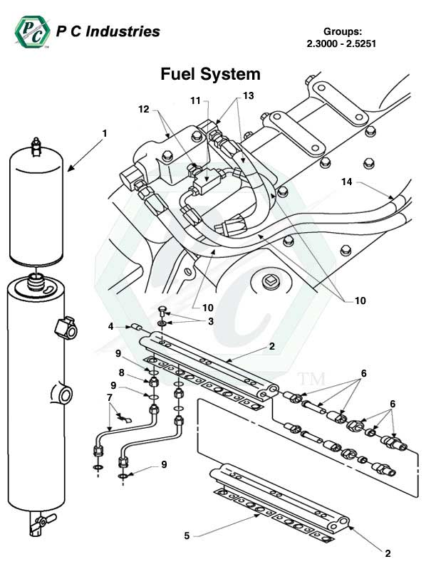 detroit diesel fuel filter specifications