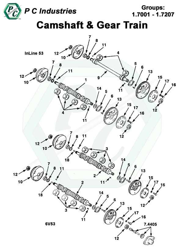 gear train diagram dd15