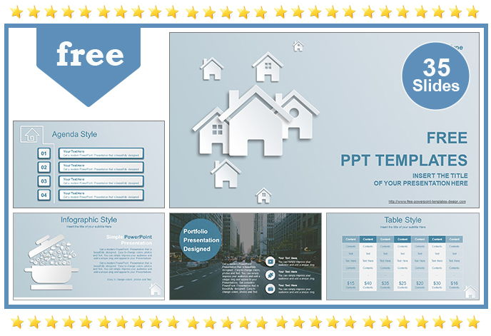Real Estate House Ions Template ( 35 Sildes ) - Powerpont-PPT