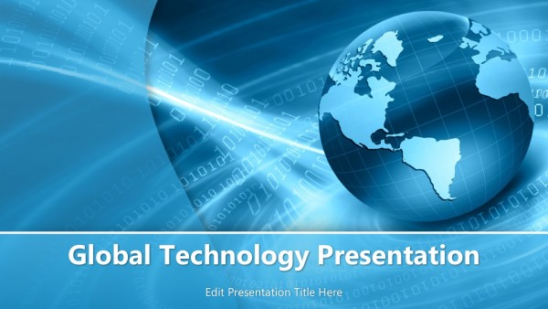 Global Technology PowerPoint Template - PowerPoint Templates