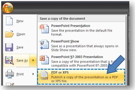 PowerPoint 2007 \u201cSave As PDF\u201d Add-in PowerPoint Ninja - Convert File To Pdf