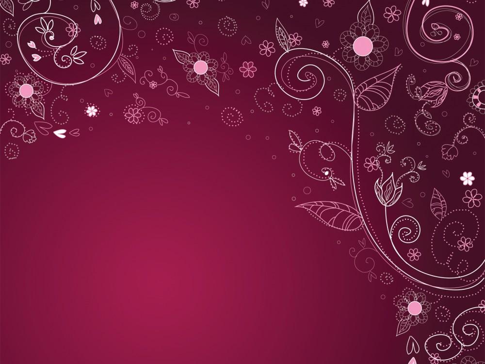 Vintage-Floral-Vector-Image-PPT-Backgrounds-purple-ppt-template-