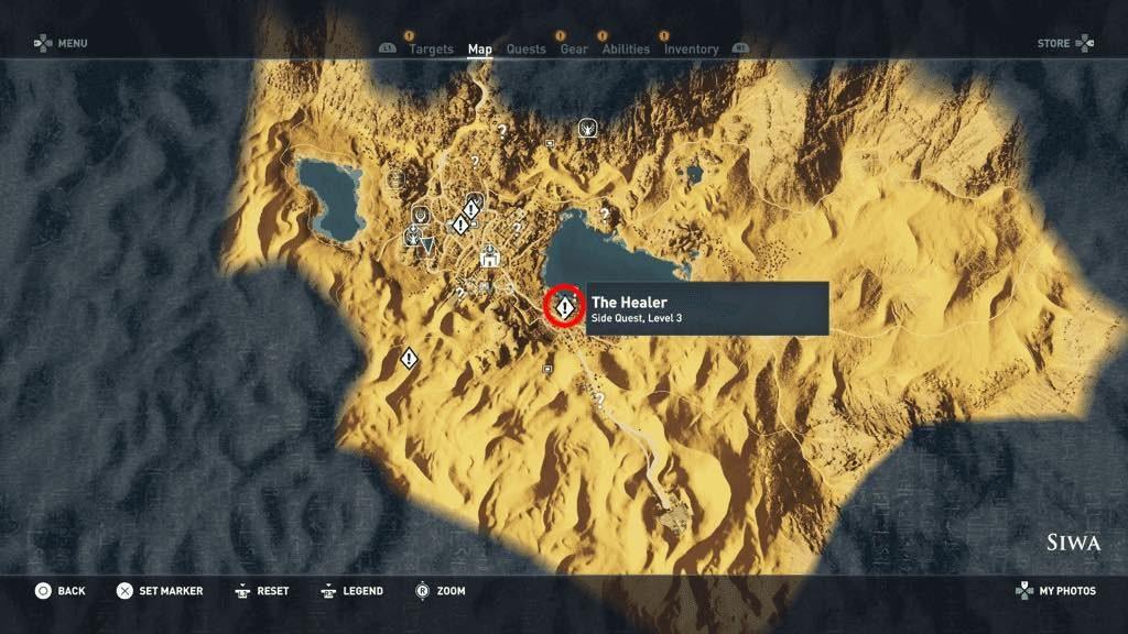 Assassin\u0027s Creed Origins The Healer Side Quest Walkthrough