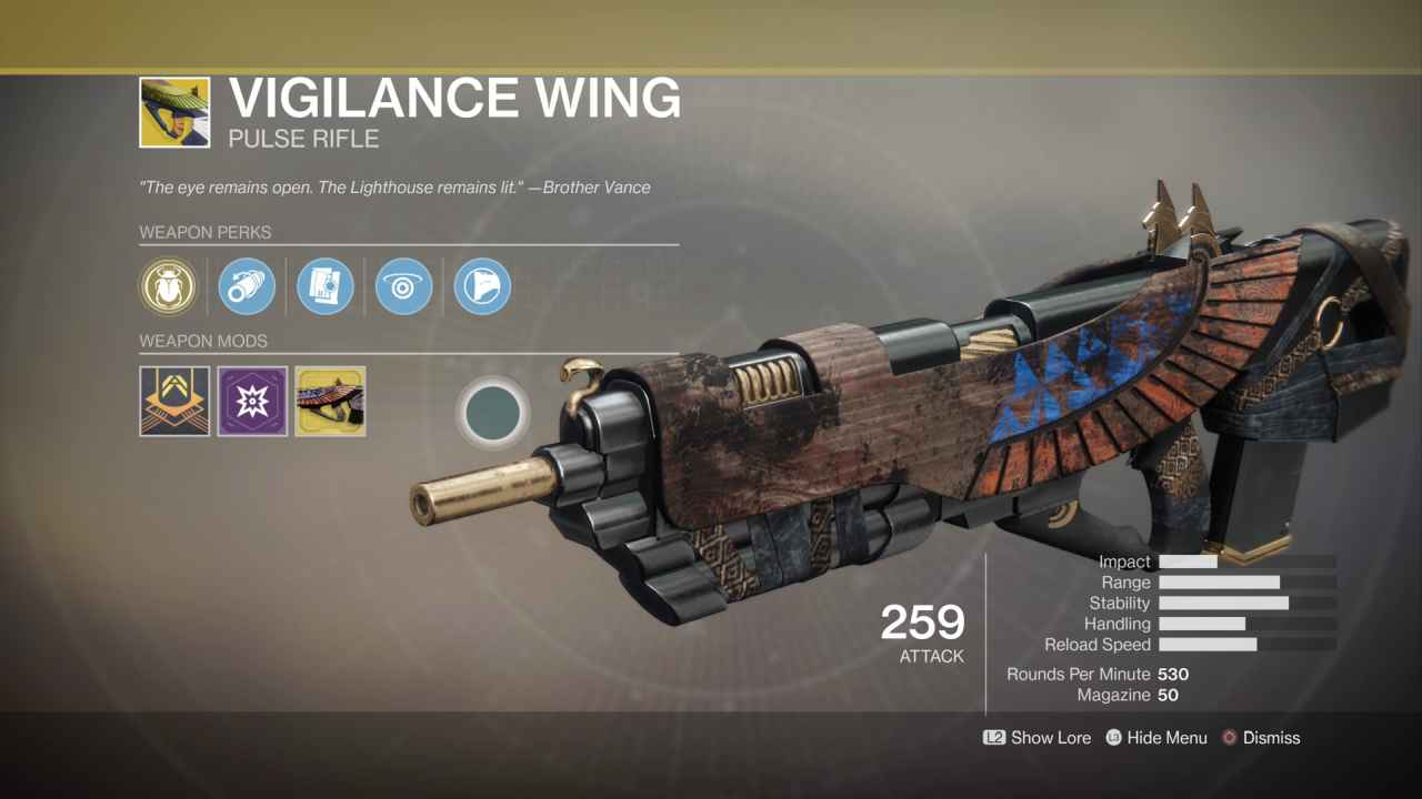 Harsh 3d Name Wallpaper Destiny 2 Exotic Gear Vigilance Wing Primary Weapon