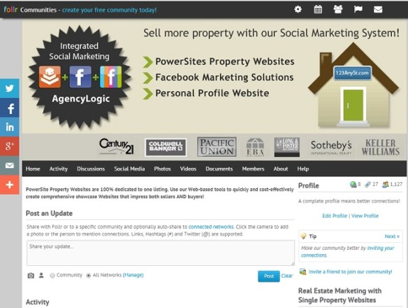 AgencyLogic Single Property Website Follr Real Estate Community