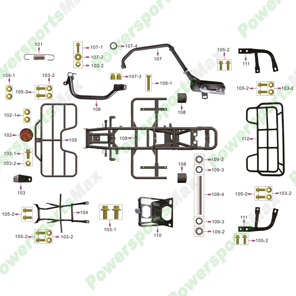 110cc Pit Bike Engine Diagram Coolster Atvs Parts