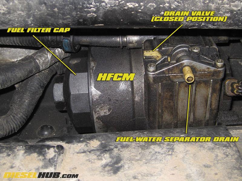 64L Power Stroke Fuel Filter Replacement Procedures