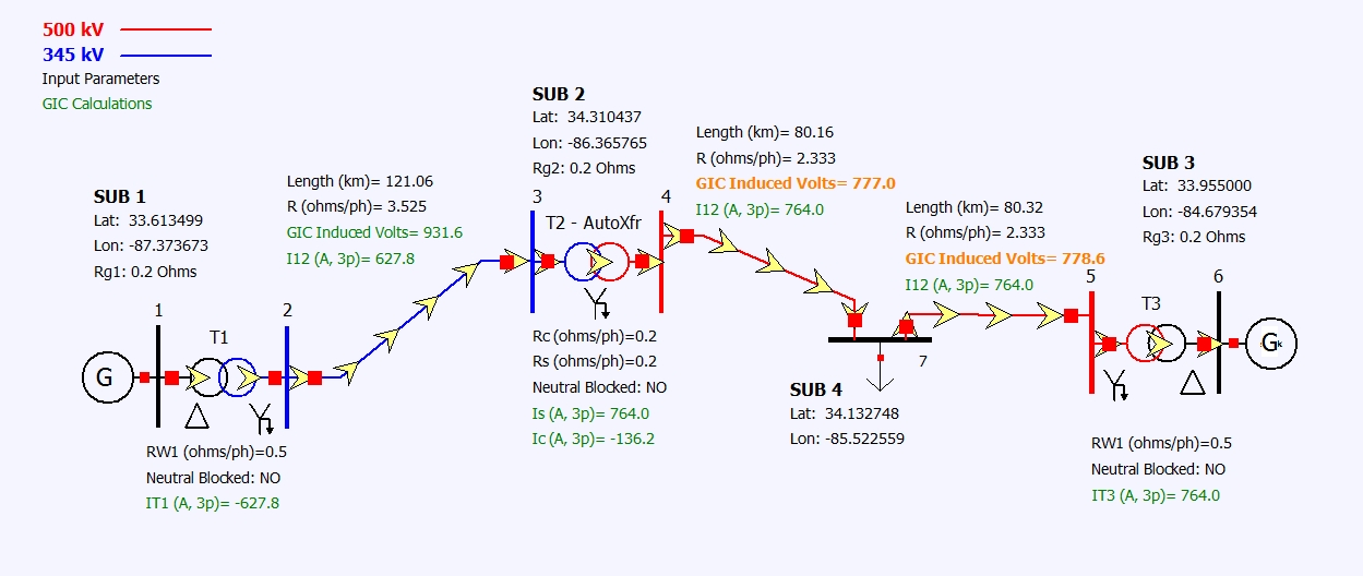 GIC and Substation Coordinates for Line Taps » Knowledge Base