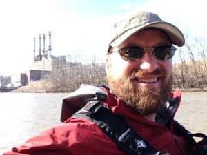 AP reporter Michael Biesecker on the Dan River. (Photo by Michael Biesecker)