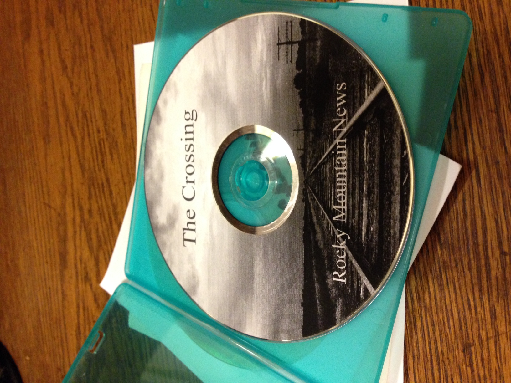 "One of Kevin Vaughan's copies of ""The Crossing."" (Photo by Kevin Vaughan)"