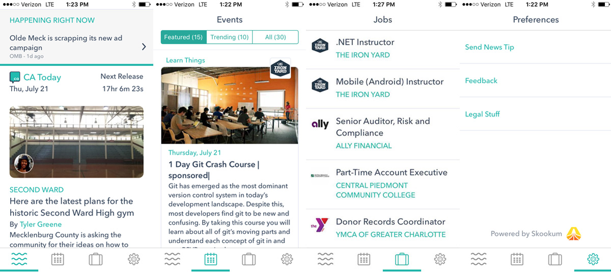 What should a local news app look like? Charlotte Agenda's answer: Stories, events and jobs