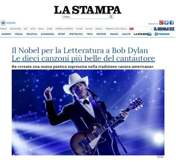 Screenshot La Stampa