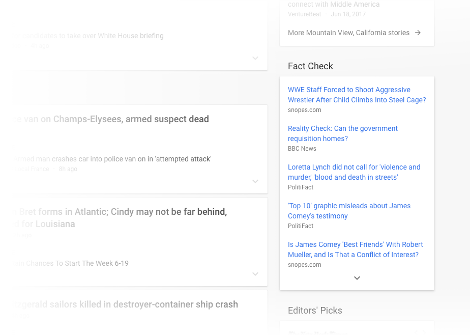 Google News for desktop redesigned for a cleaner look, adds Story cards