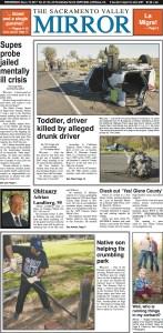 A copy of the Sacramento Valley Mirror. (Tim Crews)