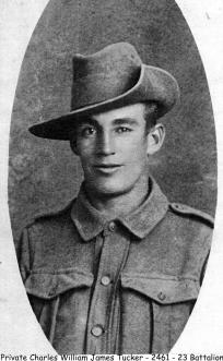 Private Charles William James Tucker 23rd Battalion, AIF, KIA 28 July 1916
