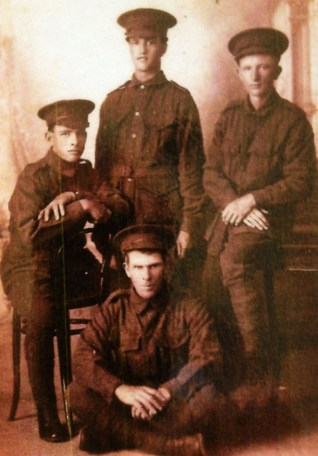 Pte Leonard Hines and mates
