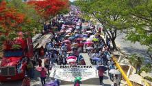 Ante amenazas de despido de Nuño se movilizan 200 mil maestr@s en Chiapas.